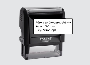 S-5158 Elegance Address Stamp