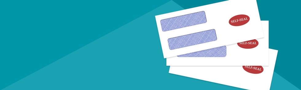 Secure confidential information with tinted self-seal envelopes.